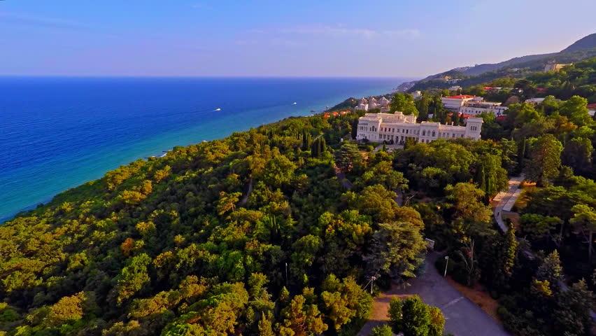 Russia, Livadia, Crimea, August 2015. (Aerial Drone flights) | Shutterstock HD Video #12912899