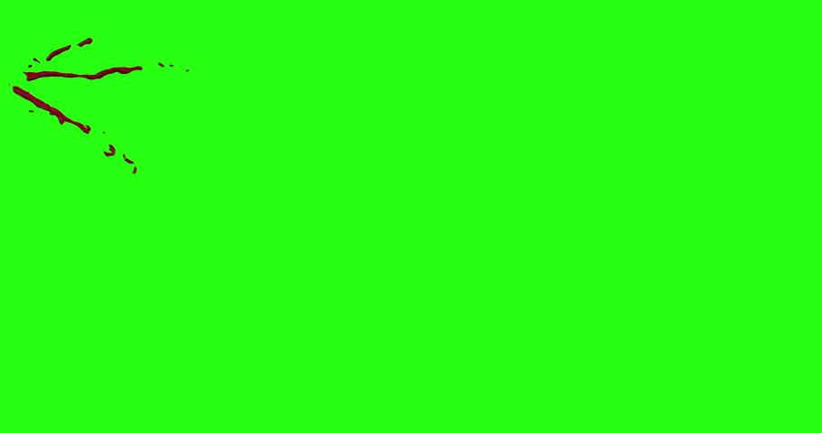 4k Blood Burst Motion Blur (Green Screen) 21 #12952289