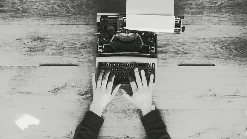 Creative typewriter shots in many different style, colors, mood, B&W. Beautiful close-ups, beautiful retro style shots