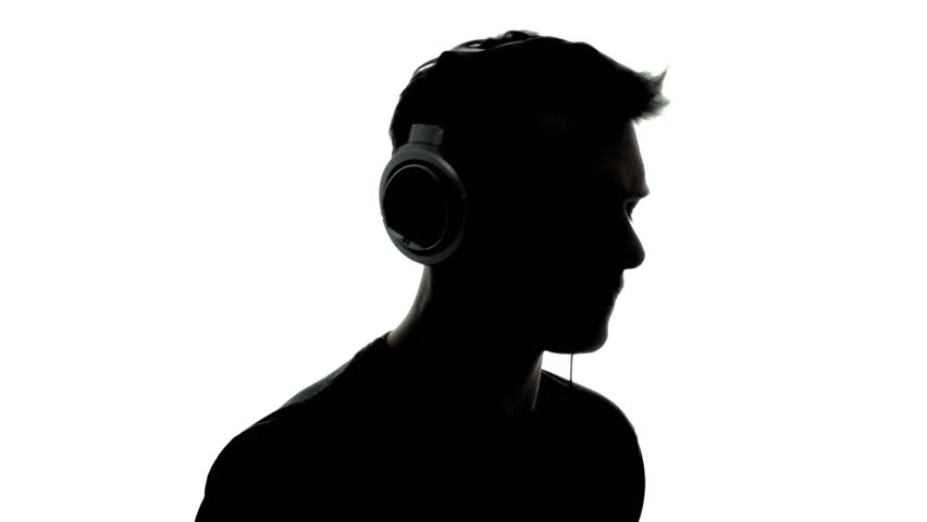 Dancing Man Silhouette With Headphones - 1080p Silhouette ...