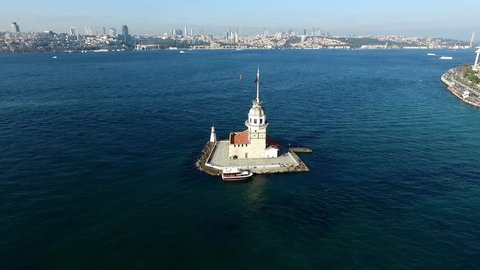 Aerial view of Maiden Tower Istanbul - Turkey
