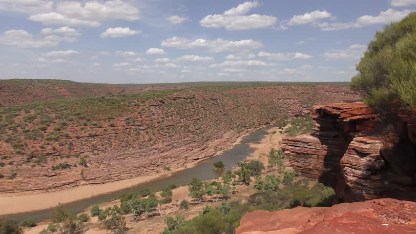 Panoramic View From Lookout Over Gorge In Kalbarri National Park Outback Western Australia