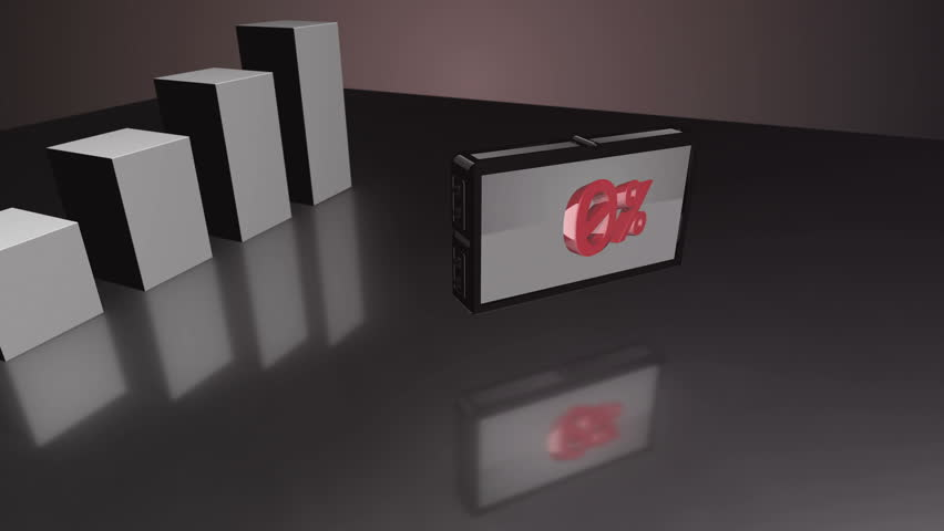 Growing Red 3D bar diagram counting up to 21% with a screen showing the numbers   Shutterstock HD Video #13009886