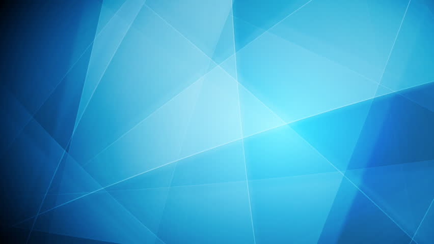 Bright blue tech shapes background. Video animation HD 1920x1080