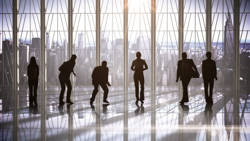Series of jumping business people in slow motion on cityscape background | Shutterstock HD Video #13123139