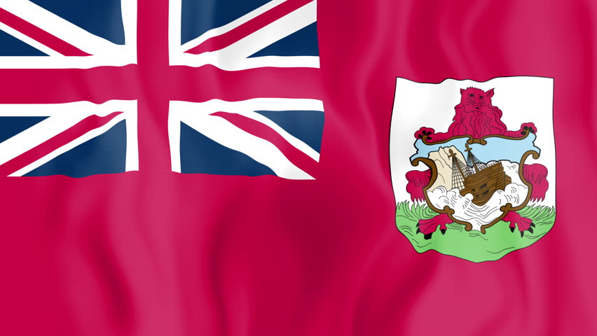 Animated flag of Bermuda in slow motion