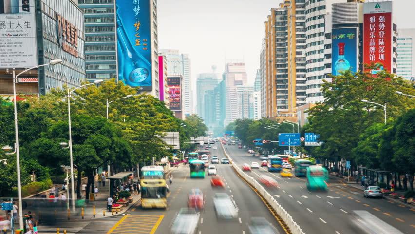 Shenzhen traffic Day timelapse.4 k