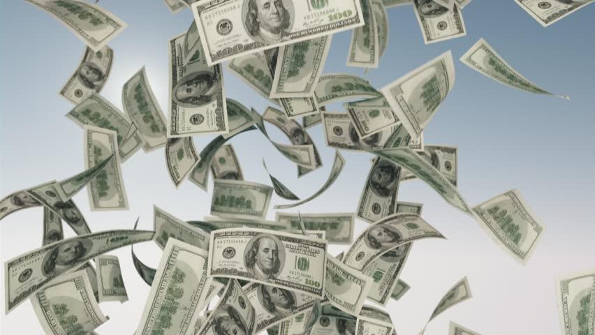dollar bills falling on - photo #23