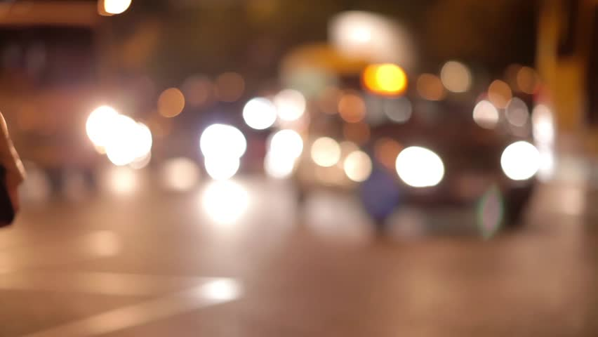 Night city traffic - blurred cars moving slowly | Shutterstock HD Video #13190579