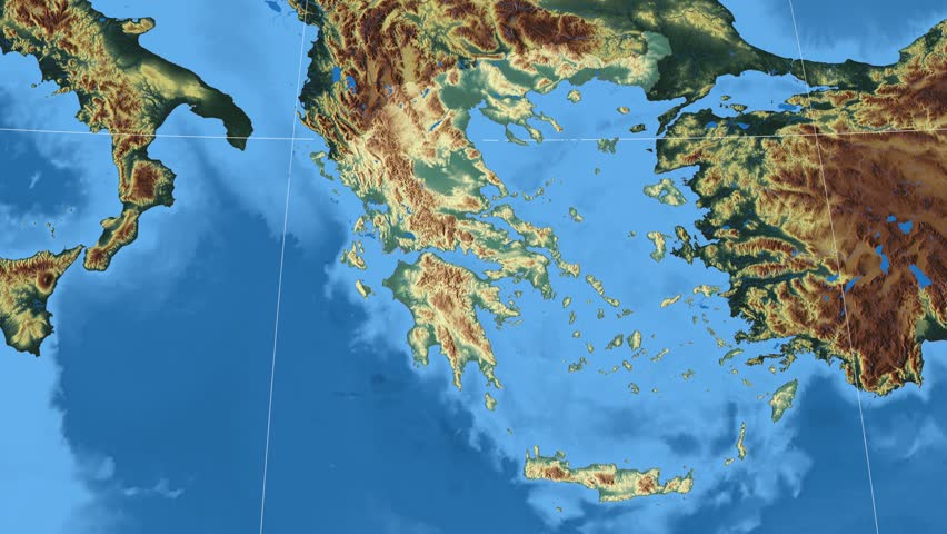 Greece Region Map Stock Video Footage - 4K and HD Video Clips ...