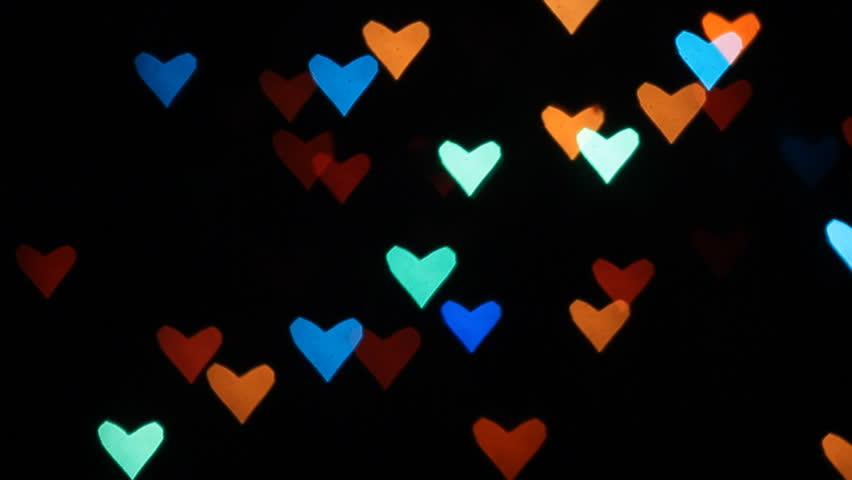Bokeh Heart Shape Of Light Background Stock Footage Video: Heart Bokeh Background. Valentine's Day Background Stock
