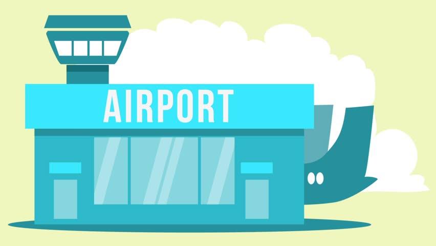 Cartoon airport termin... Airport Cartoon Images
