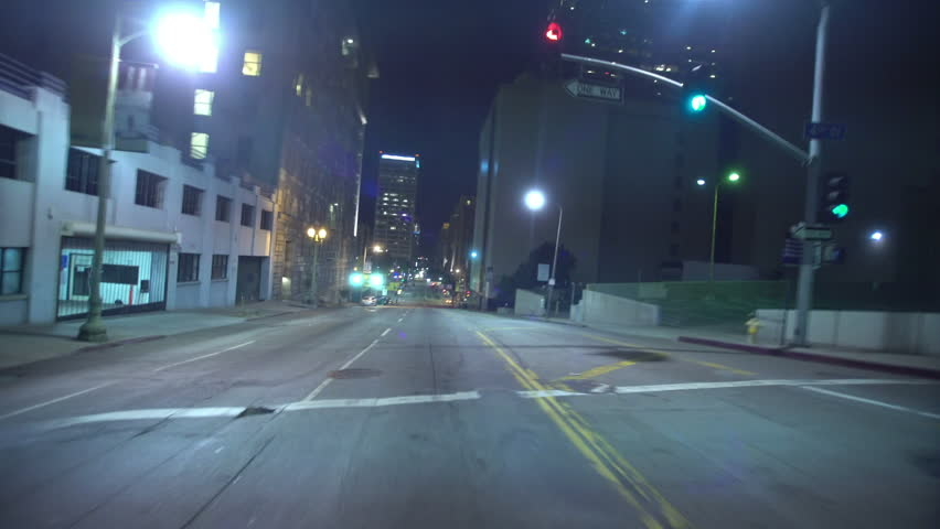 Driving Plates Tunnels Night 04 Rear View LA Downtown Grand Ave Tunnel | Shutterstock HD Video #13225739