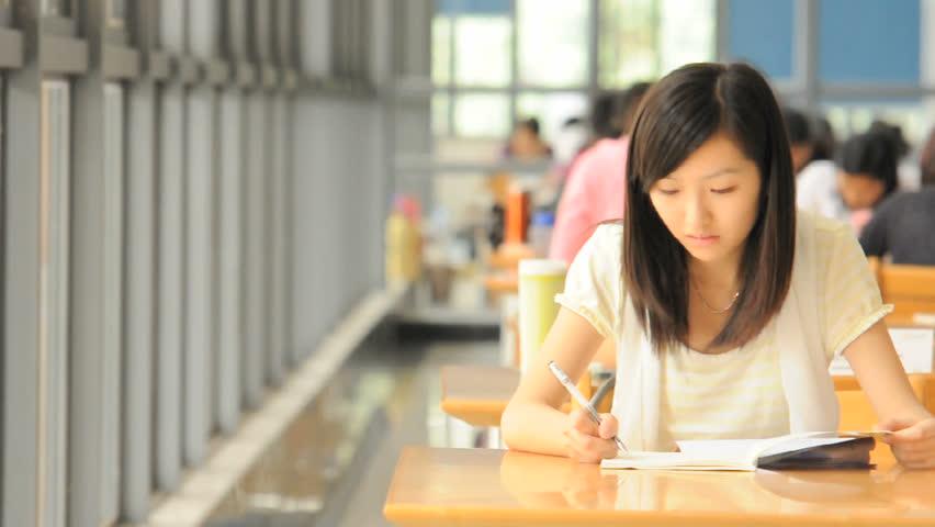 studying girl.