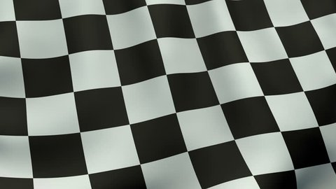 Seamlessly loopable waving checkered flag animation.