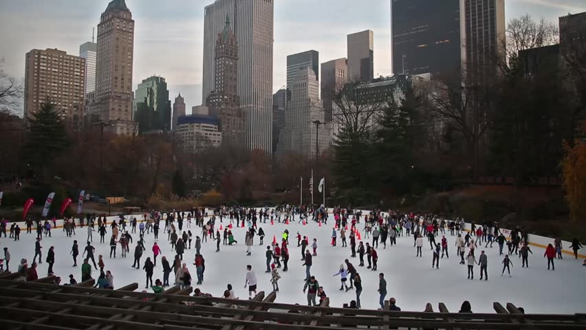 Skating in Central Park - New York