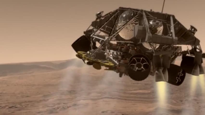 footage of mars rover landing - photo #22