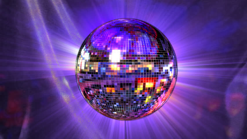 disco mirror ball rotating, loop animation