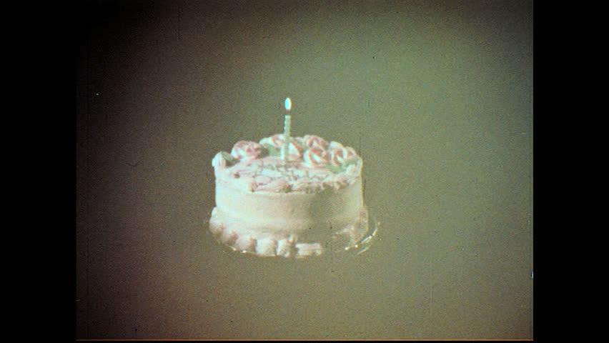4k Video Lightening Candles On Happy Birthday Cream Tart Stock
