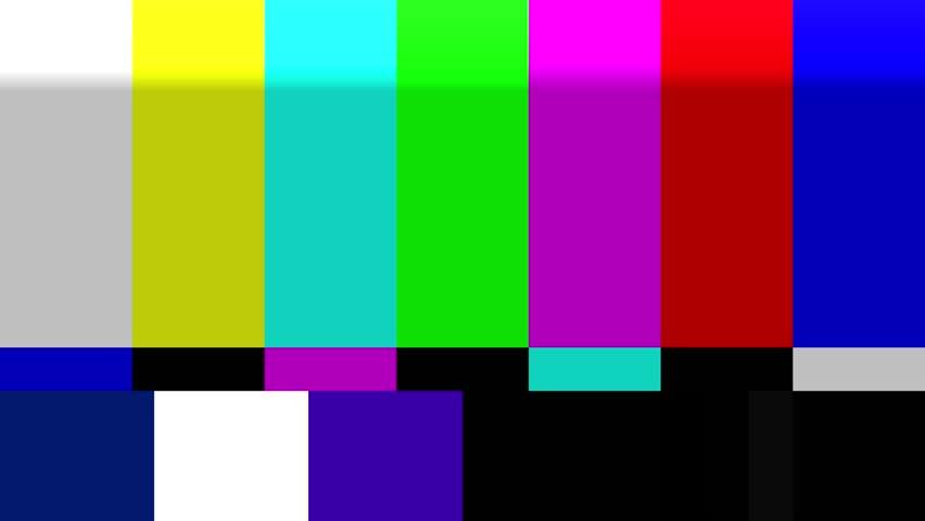 TV Color Bars bad signal NTSC 4K | Shutterstock HD Video #13505009
