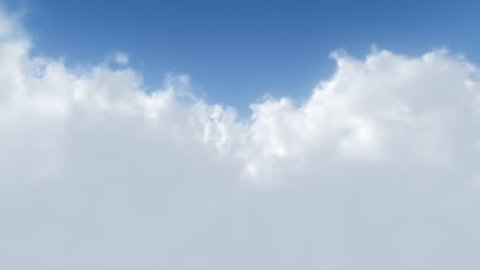 A smooth looping flight through the clouds. (No colour clipping)