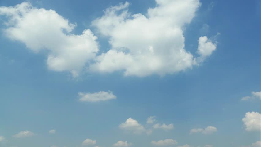 4K Timelapse moving cloud on blue sky #13629929