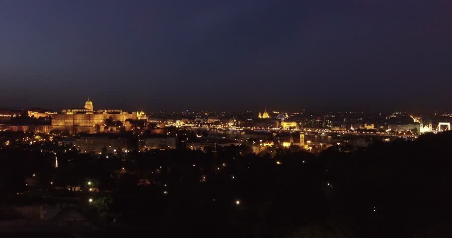 Aerial night view of Budapest | Shutterstock HD Video #13706789
