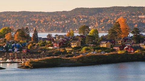 Oslo Fjord island Forest Timelapse 4K Quae