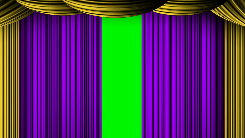Animated Zooming Cyan White Curtain On Green Screen Chroma Key For Awards  Oscar Movie Review Stage