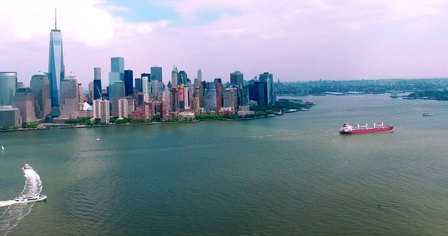 Downtown Manhattan NYC Aerial Footage