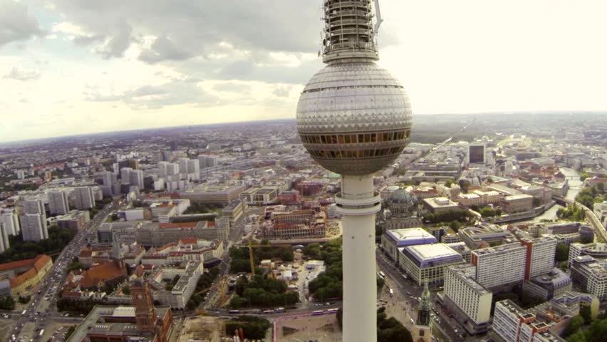 Berlin television tower aerial view