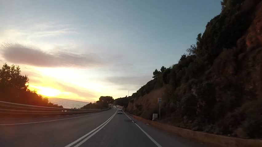 Driving on scenic highway, Tuscany, Italy   Shutterstock HD Video #13786469