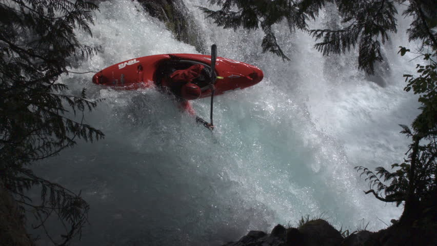 HA WS SLO MO Young man white water rafting - USA, Washington State, White Salmon River | Shutterstock HD Video #13803008