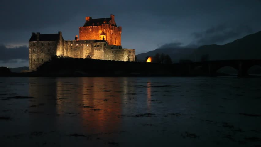 A Beautiful Scottish Castle Is Stock Footage Video 100 Royalty