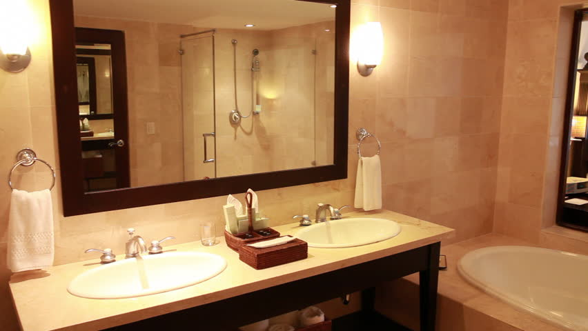 Interior Of The Toilet And Bathroom In A Modern Hotel Without