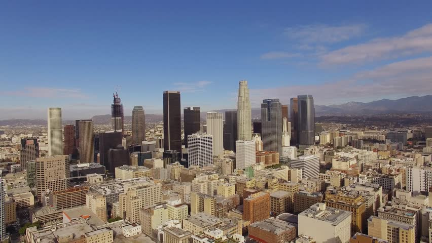 aerial sunny weather downtown los angeles stock footage video 13849487 shutterstock. Black Bedroom Furniture Sets. Home Design Ideas