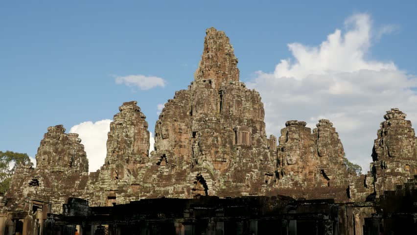 TIMELAPSE Clouds over Angkor Thom,Siem Reap,Cambodia #13904069