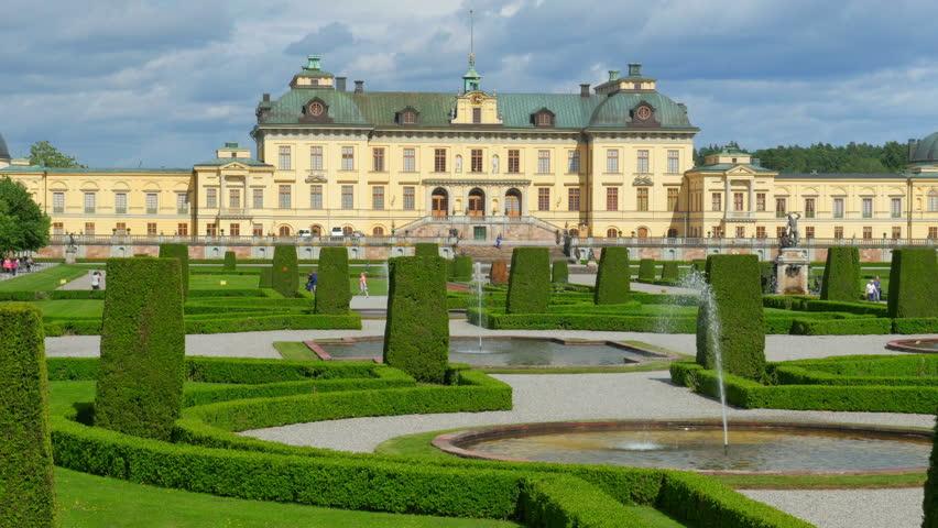 drottningholm palace, stockholm, sweden, timelapse, 4k