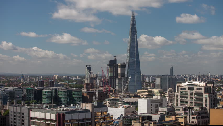 Timelapse view of amazing london skyline on a sunny day from a unique high vantage point   Shutterstock HD Video #13926029