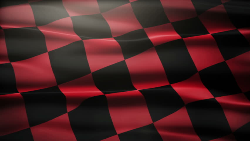 Nice Waving Checkered Flag Stock Footage Video 100