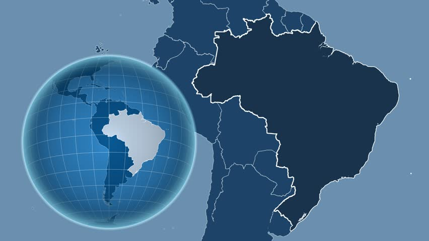 Brazil shape animated on the admin map of the globe stock footage brazil shape animated on the admin map of the globe stock footage video 13961879 shutterstock gumiabroncs Images