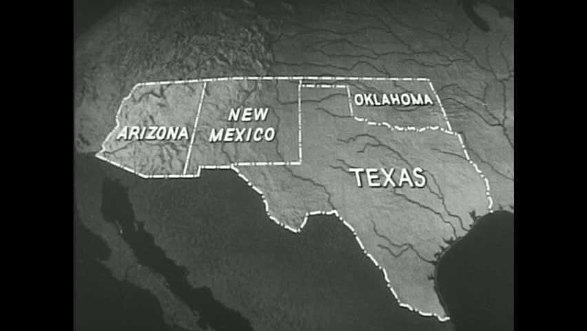 United States 1940s The Trade Routes And Roads Within The Borders Of The Southwestern United