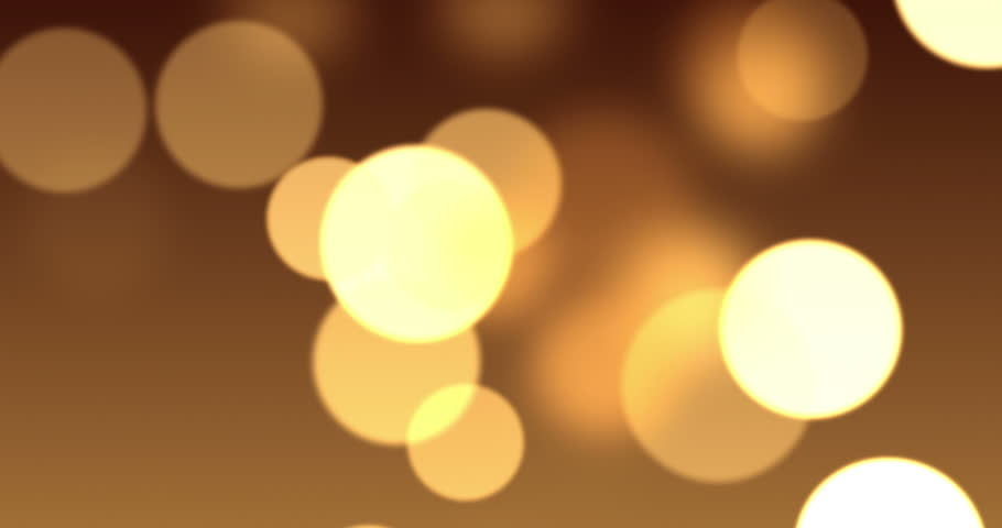 Bokeh Wallpapers High Quality: Gold Bokeh Lights In Motion In 4 K. High Quality Render Of