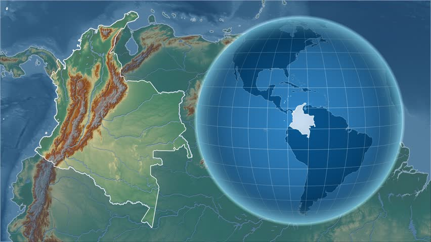 Uruguay Shape Animated On The Satellite Map Of The Globe Stock - Uruguay relief map
