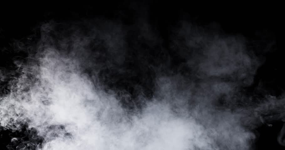 Smoke - 4K - long. Beautiful smoke over a black background. Totally disappearing. 120 fps Real shot