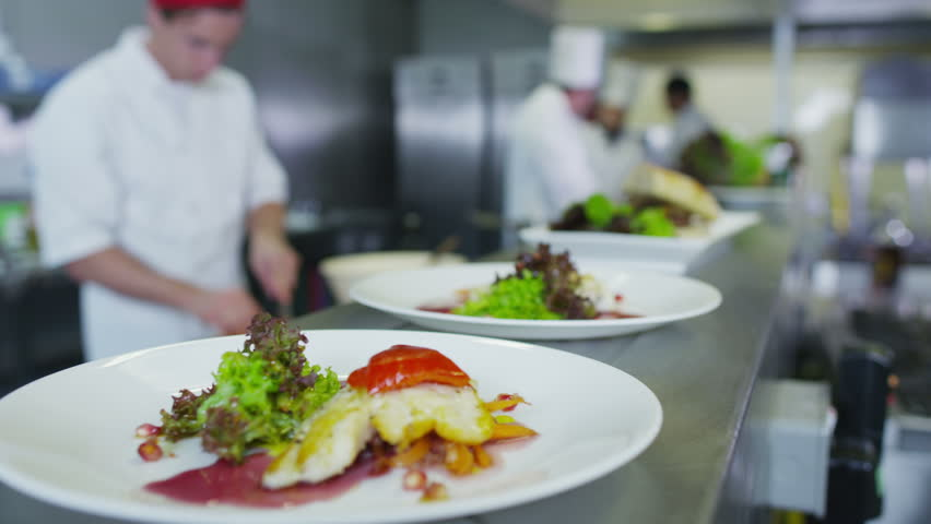 professional chefs arranging their schedule in a restaurant or