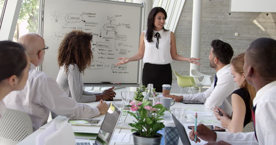 Businesswoman Leads Brainstorming Session Shot On R3D | Shutterstock HD Video #14169572
