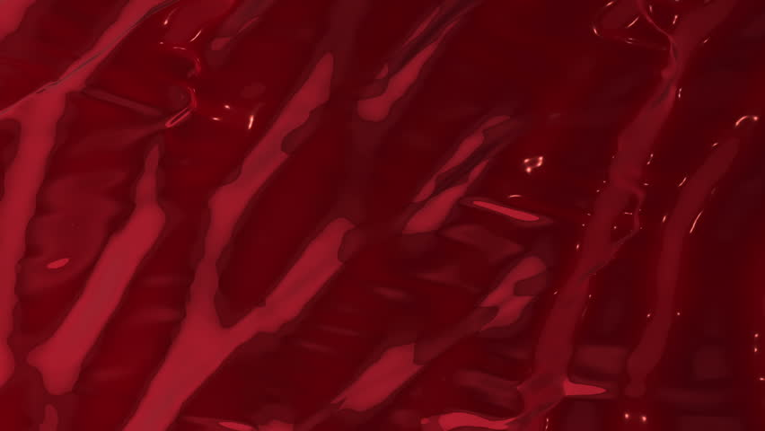 Animation of waves and ripples in red blood. Rippled surface of red liquid paint. Animation of ripple on surface of red paint. Animation of seamless loop. | Shutterstock HD Video #14256749