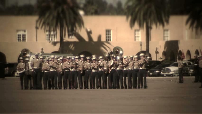 MCRD San Diego, CA - Marine Corps marching band