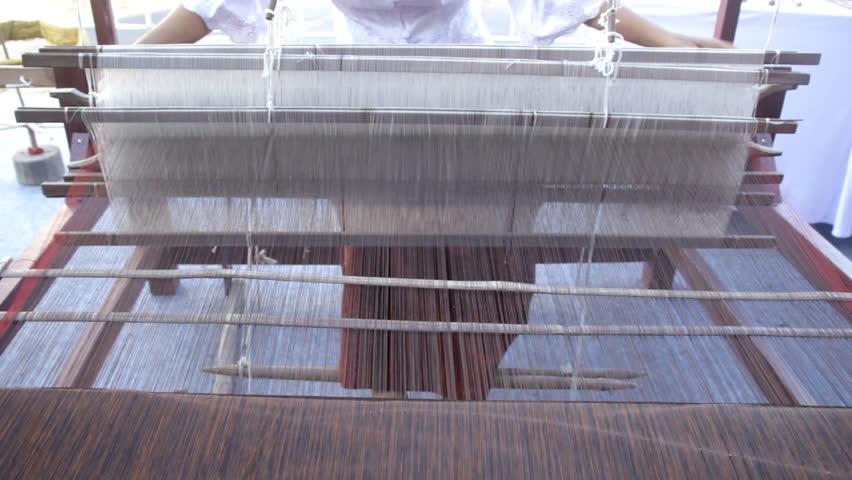 Traditional handmade textile weaving | Shutterstock HD Video #14293759